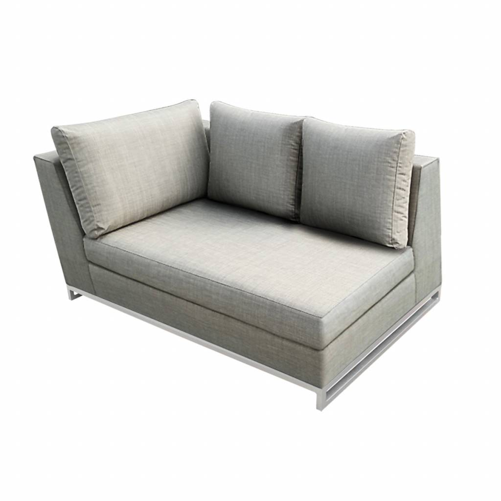 """Lounge Factory NEW CHIC L-SHAPE CORNER TAUPE 47 X 35 X 28"""""""