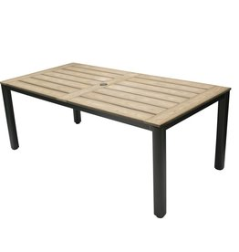 Lounge Factory TAHITI POLYTEAK DINING TABLE 71x40x30""