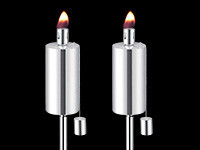 Anywhere Fireplace Outdoor Lawn Torch-Cylinder (2 pk) TALL