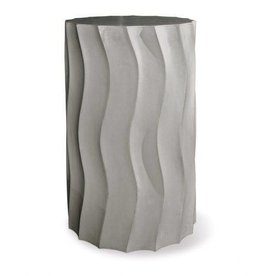 "Perpetual Wave Tall Accent Table Slate Gray 15""Dx25""H"