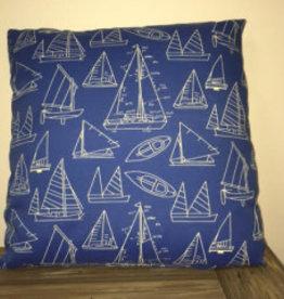 "Gotcha Covered Sail Boat Pillow 20"""