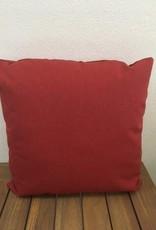 "Gotcha Covered Brick Red Sunbrella 18"" Pillow"