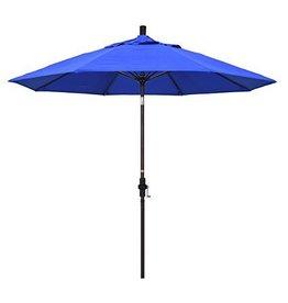 California Umbrella 9' Fiberglass Tilt/Bronze/Pacifica/Pacific Blue Umbrella