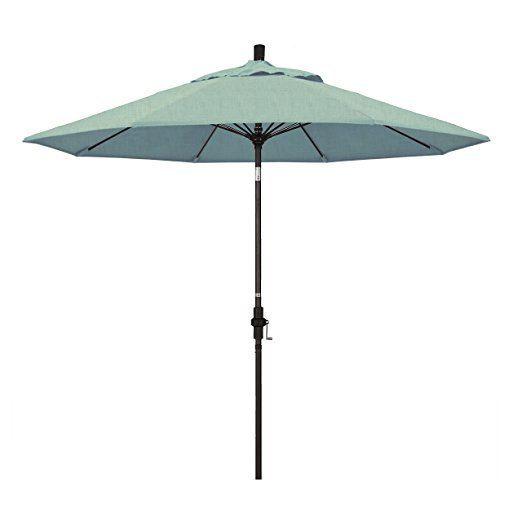 California Umbrella 9' Fiberglass Tilt/Bronze/Pacifica/Spa Umbrella