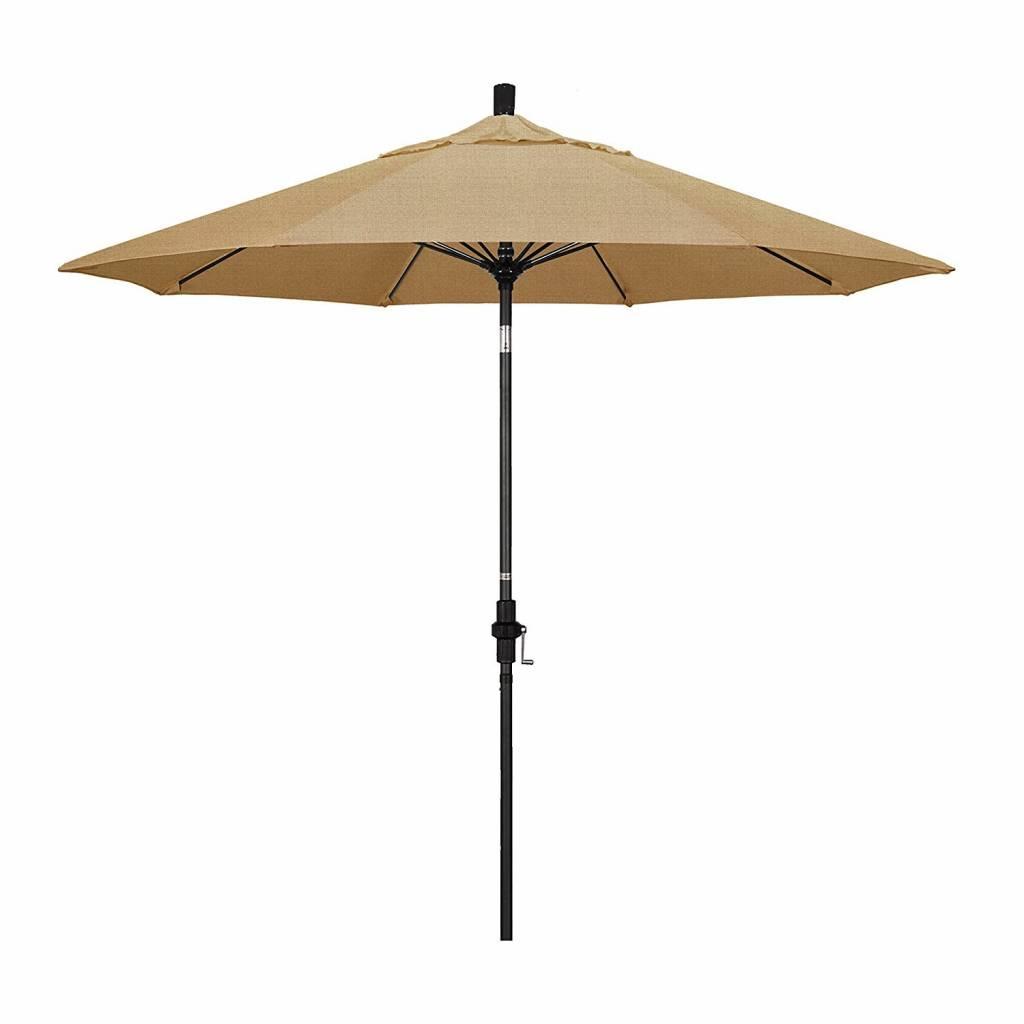 California Umbrella 9' Fiberglass Tilt/Bronze/Pacifica/Linen Straw Umbrella