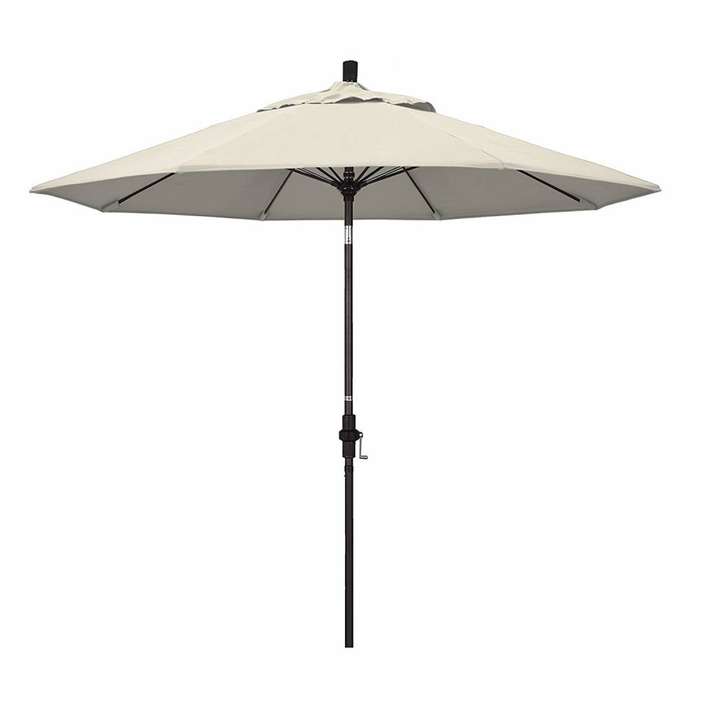 California Umbrella 9' Fiberglass Tilt/Bronze/Pacifica/Antique Beige Umbrella