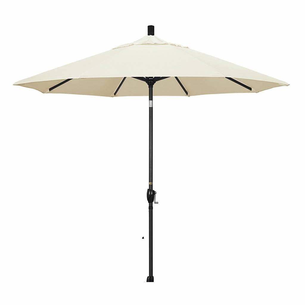 California Umbrella 9' Fiberglass Tilt/Bronze/Pacifica/Canvas Umbrella