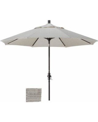 California Umbrella 9' Fiberglass Tilt/Bronze/Olefin/Woven Granite Umbrella