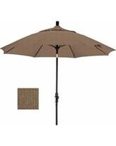 California Umbrella 9' Fiberglass Tilt/Bronze/Olefin/Woven Sesame Umbrella