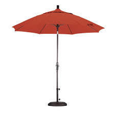 California Umbrella 9' Fiberglass Tilt/Bronze/Olefin/Sunset Umbrella