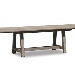 "Sunset West USA DRIFTWOOD TEAK 118""-158"" DINING TABLE EXTENDABLE"