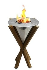 Anywhere Fireplace Southampton Tabletop Teak Fireplace