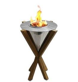 Anywhere Fireplace Southampton Tabletop Teak Fireplace