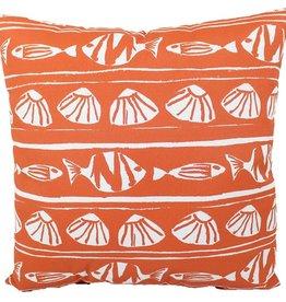Lava Pillows Orange Fish 18x18