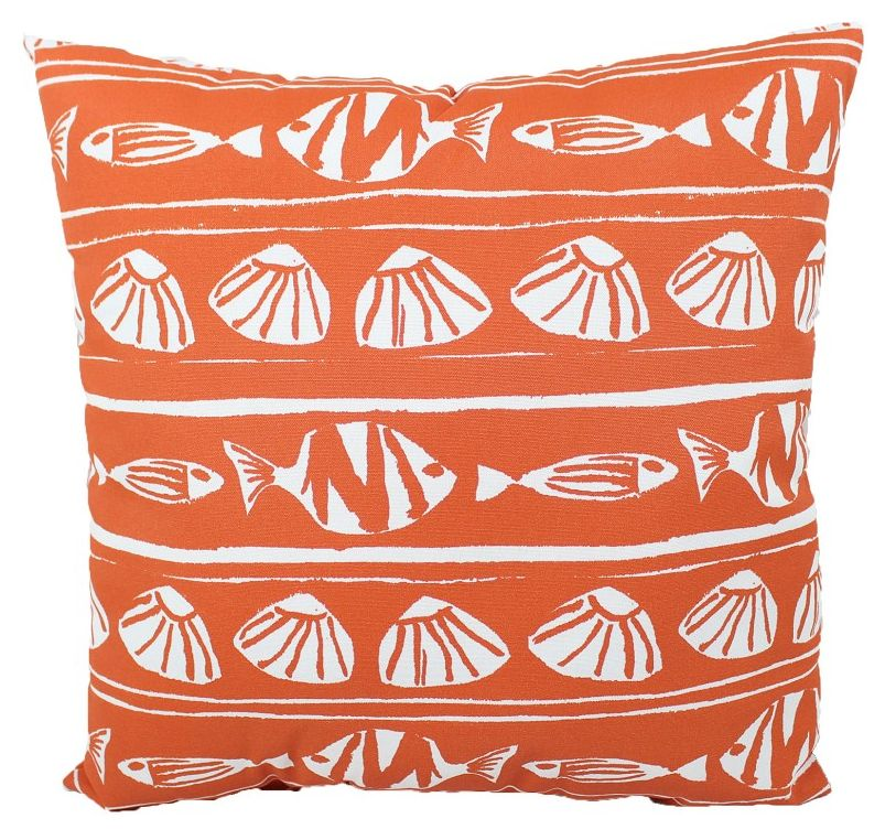 Lava Pillows Orange Fish 18x18