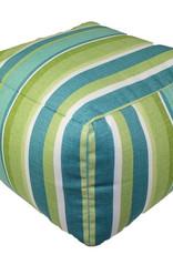 Lava Pillows Seaweed Stripe Pouf 12x16