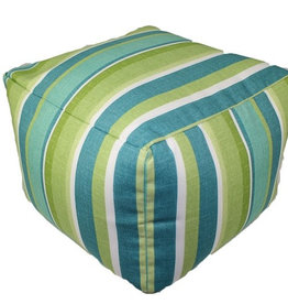Lava Pillows Seaweed Stripe Pouf 12x16
