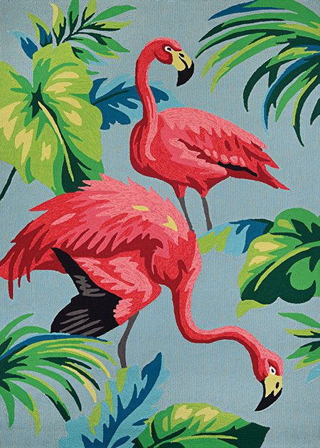 "Couristan Covington Flamingos Multi 5'6""x8'"