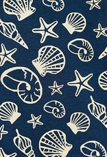 "Couristan Outdoor Escape Cardita Shells Navy/Ivory 5'6""x8'"