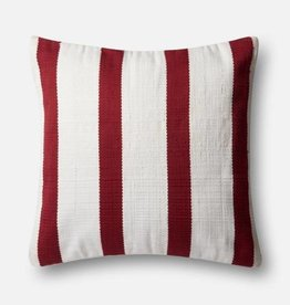 """Loloi P0507 IN/OUT Red/Ivory 22""""x22"""""""