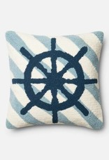 """Loloi P0354 IN/OUT Navy/Ivory 18""""x18"""""""