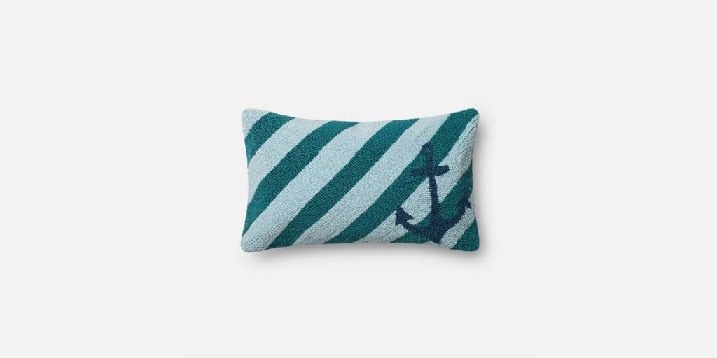 """Loloi P0359 IN/OUT Teal/Multi 13""""x21"""""""