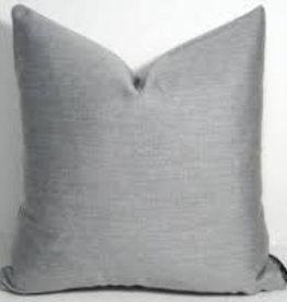 "Gotcha Covered Texture Silver Grey Sunbrella 20"" Pillow"