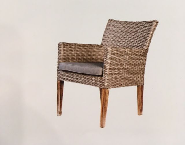 Lounge Factory WHITE WASH ATTITUDE CHAIR WITH TEAK LEGS