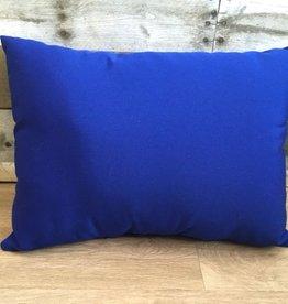 "Lava Pillows Canvas True Blue 18""x12"" Pillow"