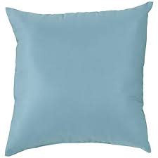"""American Mills Canvas Mineral Blue 18"""" Pillow"""