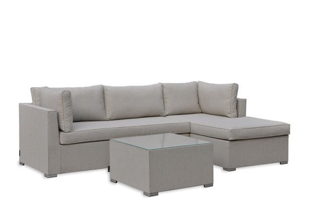 Lounge Factory CONDO SECTIONAL SAND 3PCS