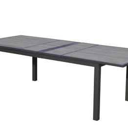 """SKY POLYTEAK DOUBLE EXTENSION DINING TABLE 72-94"""" x 40'' x 30"""""""