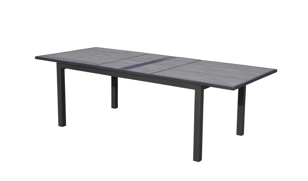 """Lounge Factory SKY POLYTEAK DOUBLE EXTENSION DINING TABLE 72-94"""" x 40'' x 30"""""""