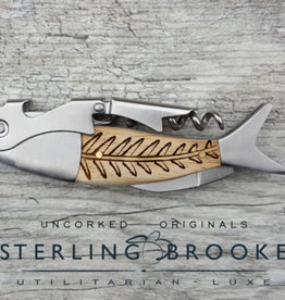 Sterling Brooke CO. Double Hinged - Bones
