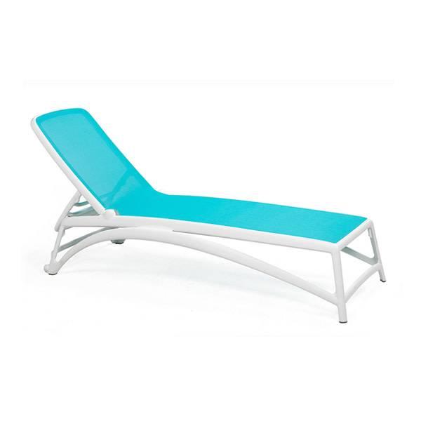 Nardi Atlantico Chaise Lounge - Bianco/Celeste