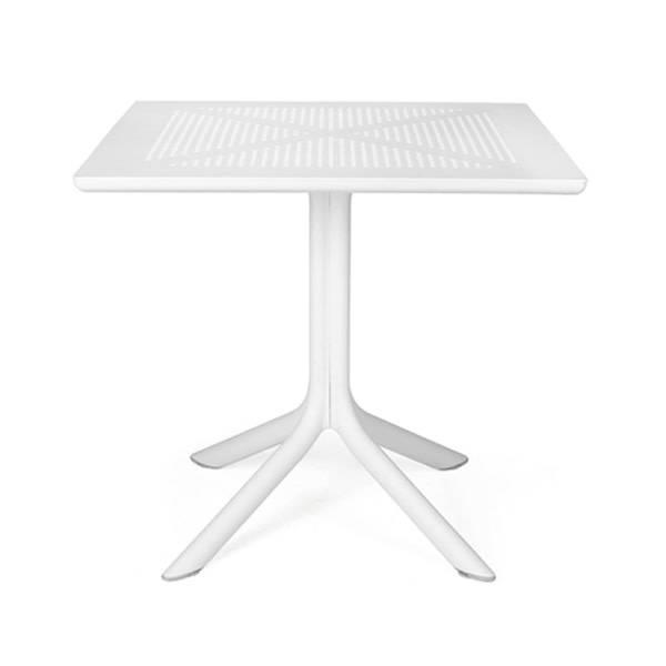 "Nardi Clip Table 32""Sq - Bianco"