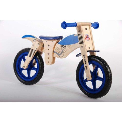 VOLARE YIPEEH MOTOR WOODEN BALANCE BIKE (WOOD BLUE) 12''