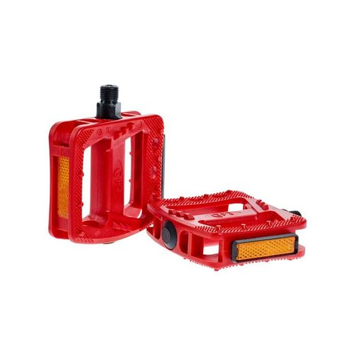 CUBE RFR PEDALS FLAT HQP CMPT (RED)