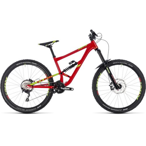 CUBE HANZZ 190 RACE 27.5 2018 (RED & LIME)