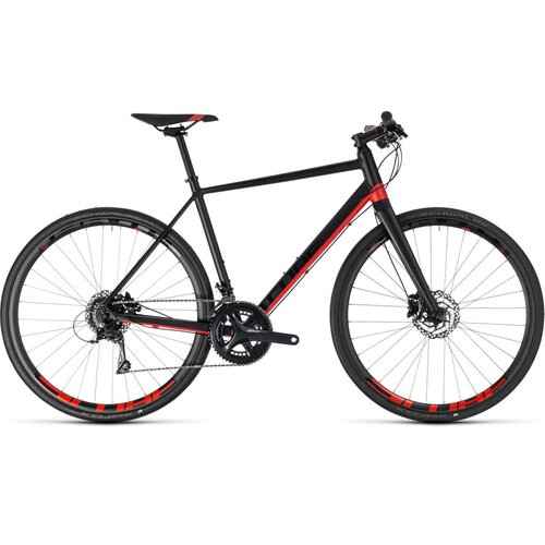 CUBE SL ROAD PRO 2018 (BLACK & RED)