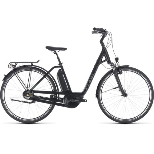 CUBE TOWN HYBRID ONE 400 2018 (BLACK & GREEN) EE