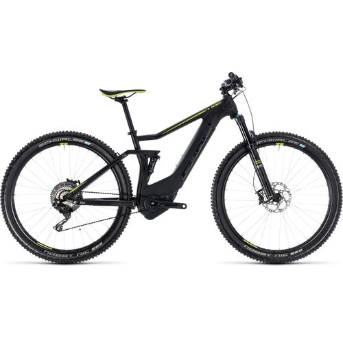 CUBE STEREO HYBRID 120 HPC SL 500 2018 (BLACK & GREEN)