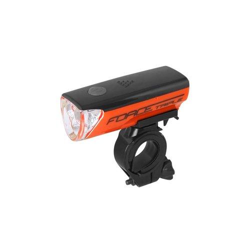 FORCE TRIPLE LED FRONT LIGHT (ORANGE)