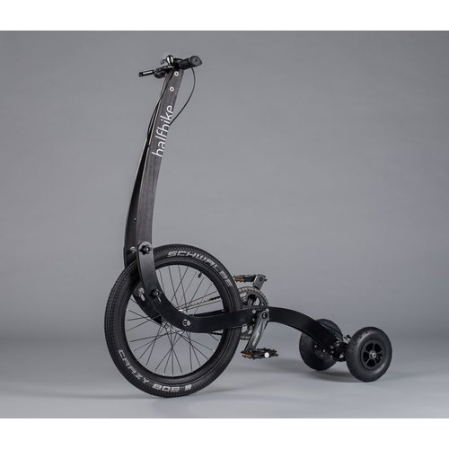 HALFBIKE H A L F B I K E ! THE BICYCLE REINVENTED (BLACK) MEDIUM