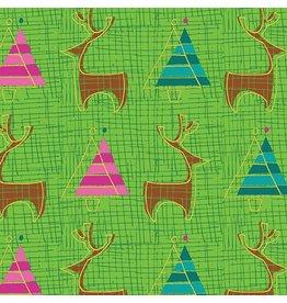 Benartex 3025M 48 Reindeer Lime