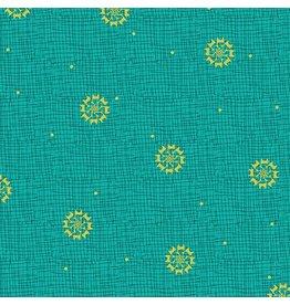 Benartex 3030M-84 Christmas Star Turquoise