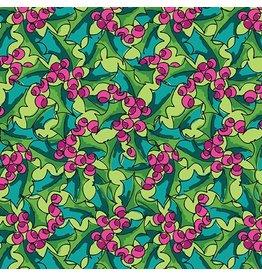 Benartex 3026M-40 Christmas Holly Green