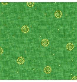 Benartex 3030M-48 Christmas Star Lime