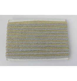 Goud-Zilver Tresband, 11 mm