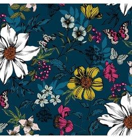 Makower/Andover 1862 B, Botanica, Flower Pacific